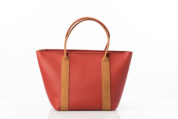 sac rouge en simili cuir