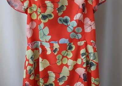 robe fillette orange