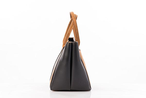 sac noir en simili cuir